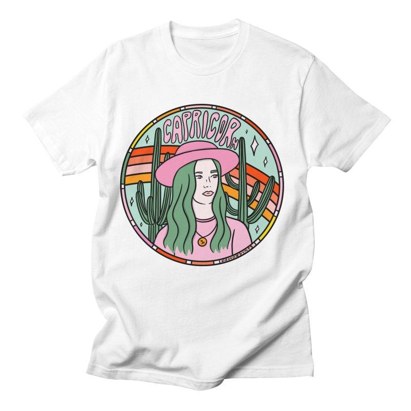 Capricorn Cowgirl Men's T-Shirt by doodlebymeg's Artist Shop