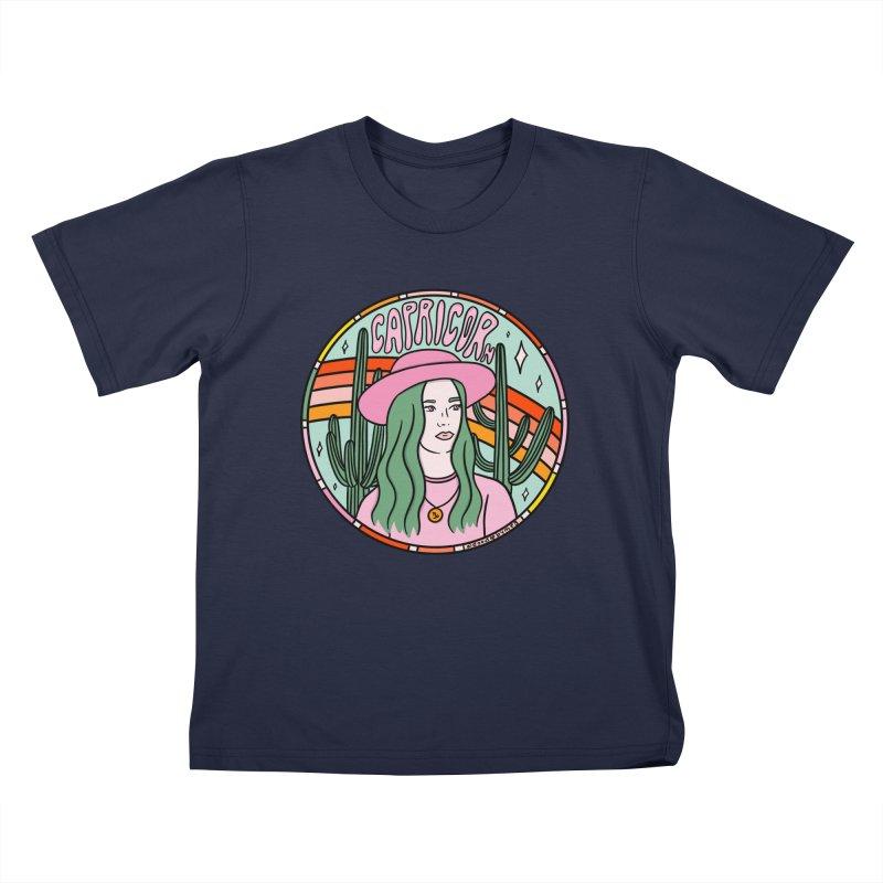 Capricorn Cowgirl Kids T-Shirt by doodlebymeg's Artist Shop