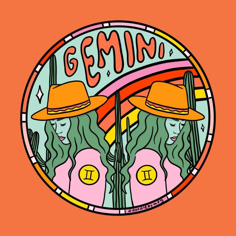 Gemini Cowgirl Men's Zip-Up Hoody by doodlebymeg's Artist Shop