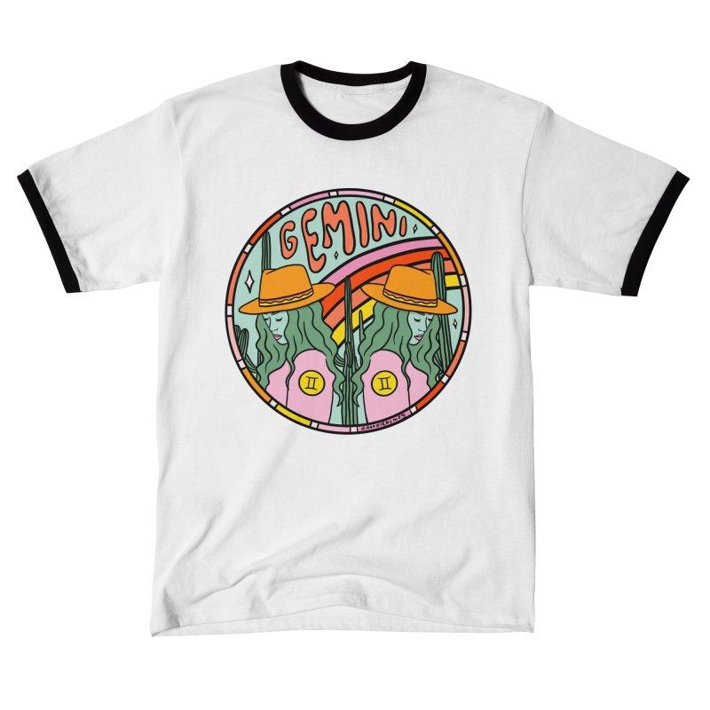 Gemini Cowgirl Men's T-Shirt by doodlebymeg's Artist Shop