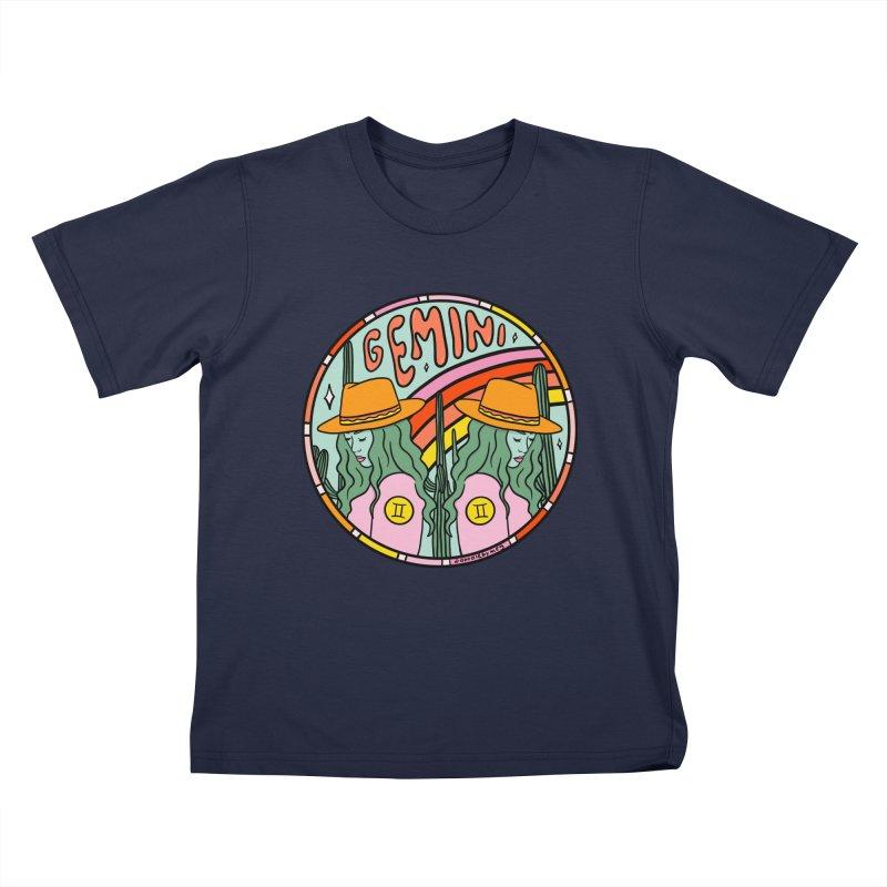 Gemini Cowgirl Kids T-Shirt by doodlebymeg's Artist Shop