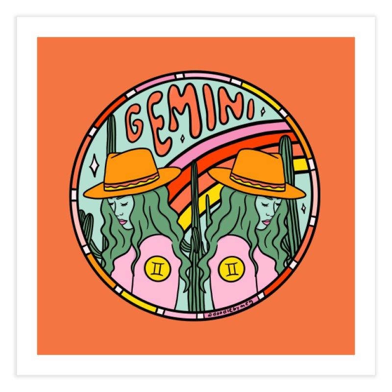 Gemini Cowgirl Home Fine Art Print by doodlebymeg's Artist Shop