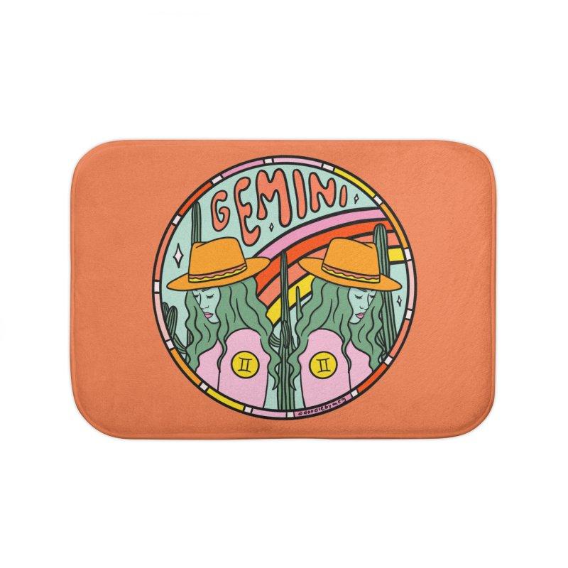 Gemini Cowgirl Home Bath Mat by doodlebymeg's Artist Shop