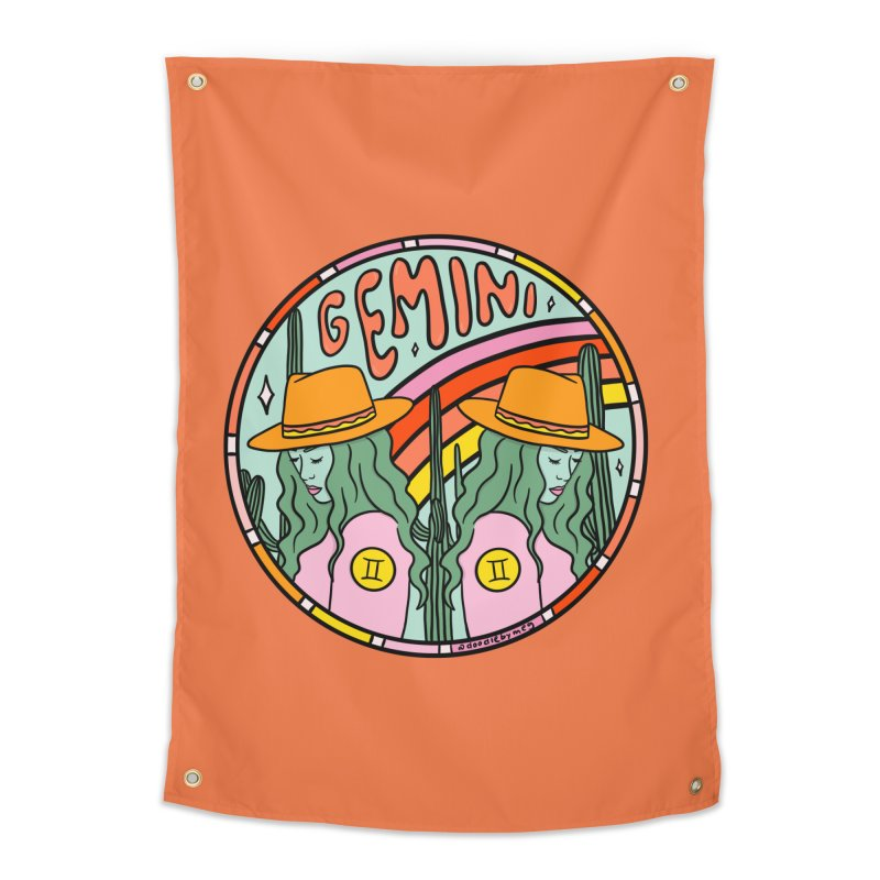 Gemini Cowgirl Home Tapestry by doodlebymeg's Artist Shop