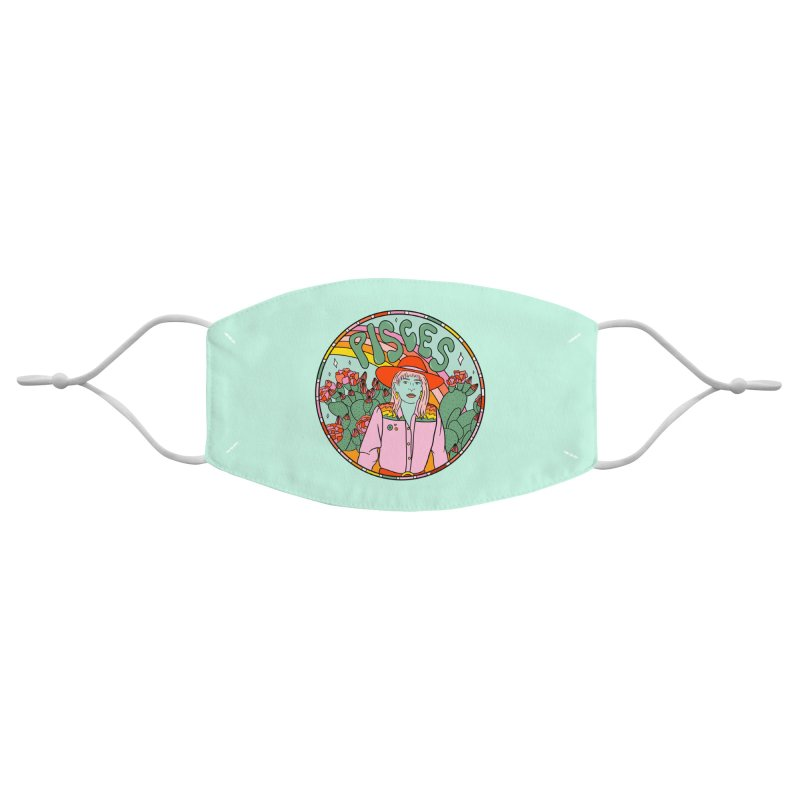 Pisces Cowgirl Accessories Face Mask by doodlebymeg's Artist Shop