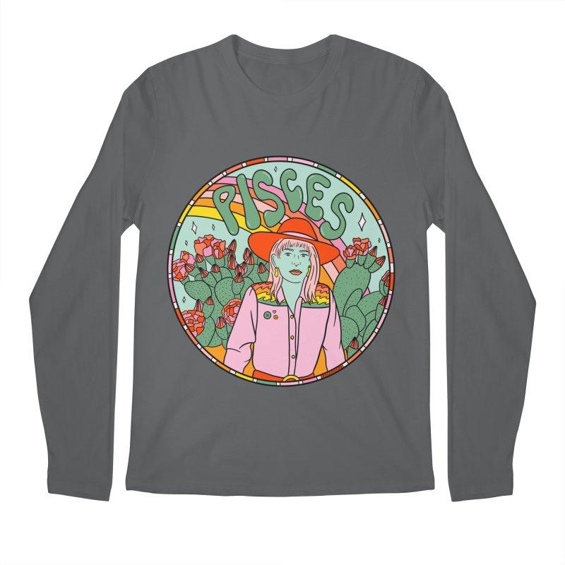 Pisces Cowgirl Men's Longsleeve T-Shirt by doodlebymeg's Artist Shop
