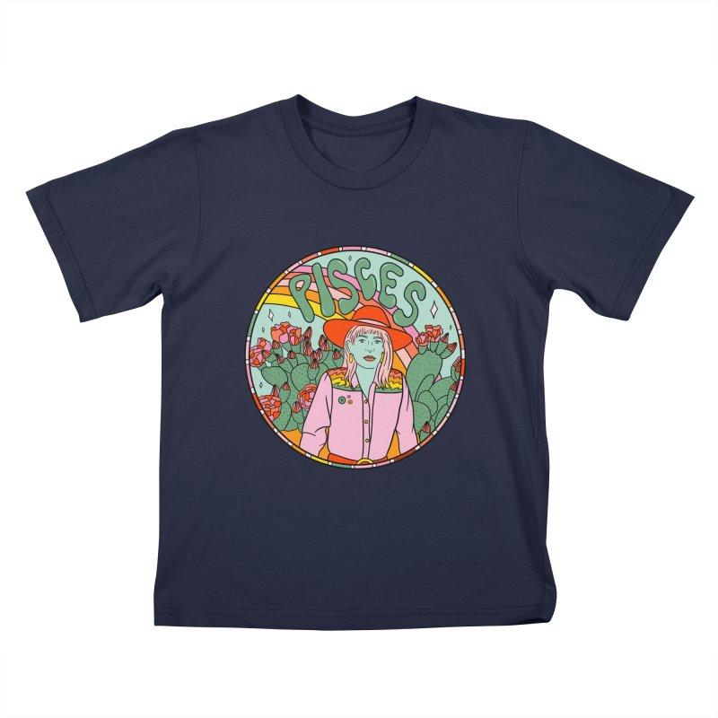 Pisces Cowgirl Kids T-Shirt by doodlebymeg's Artist Shop