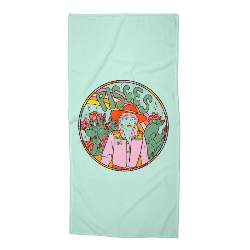 Pisces Cowgirl Accessories Beach Towel by doodlebymeg's Artist Shop
