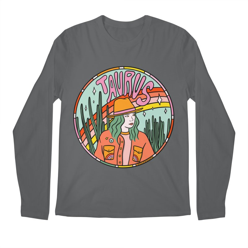 Taurus Cowgirl Men's Longsleeve T-Shirt by doodlebymeg's Artist Shop