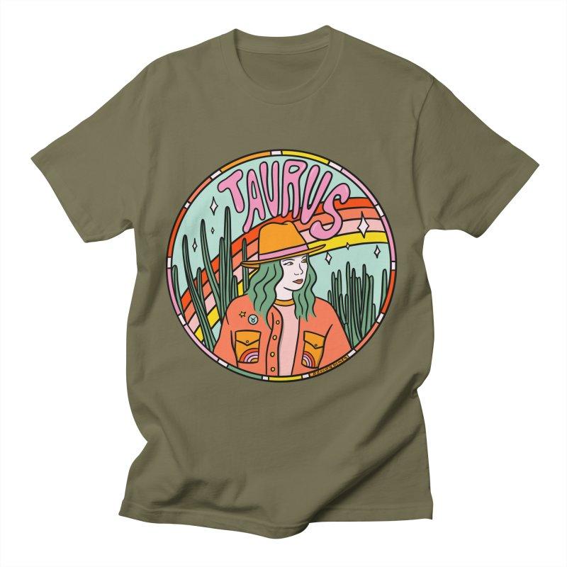 Taurus Cowgirl Men's T-Shirt by doodlebymeg's Artist Shop