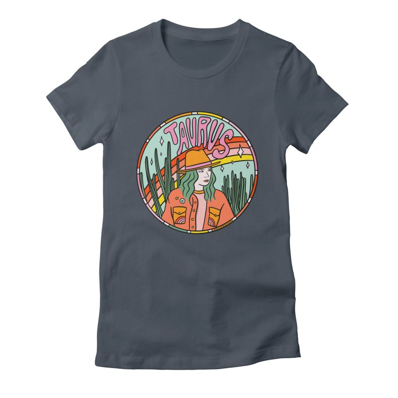 Taurus Cowgirl Women's T-Shirt by doodlebymeg's Artist Shop