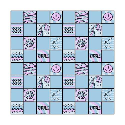 Design for Aquarius Checkered Print