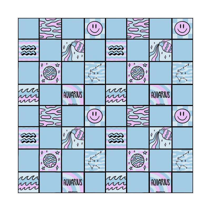 Aquarius Checkered Print Men's Shoes by doodlebymeg's Artist Shop
