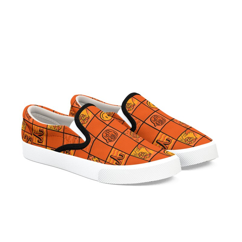Aries Checkered Print Men's Shoes by doodlebymeg's Artist Shop