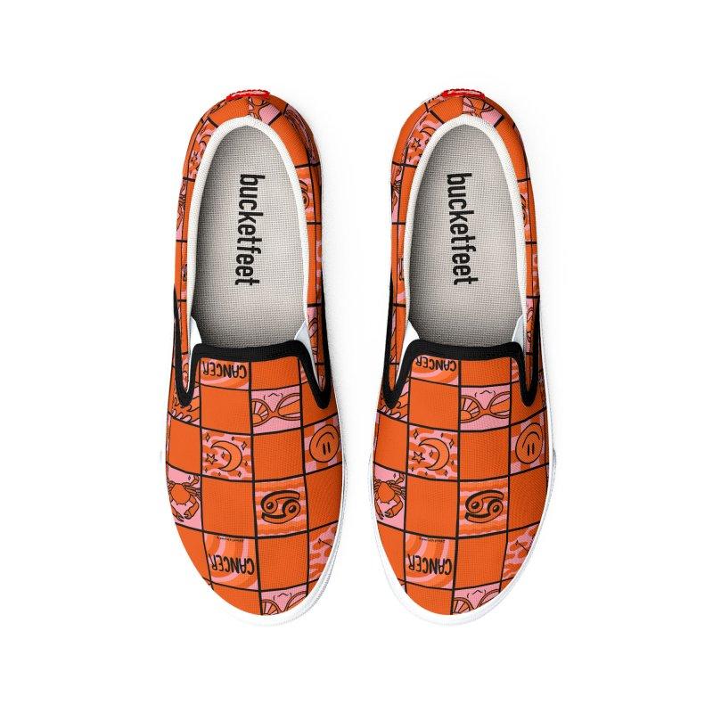Cancer Checkered Print Men's Shoes by doodlebymeg's Artist Shop