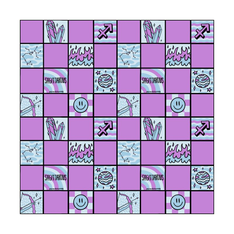 Sagittarius Checkered Print Men's Shoes by doodlebymeg's Artist Shop