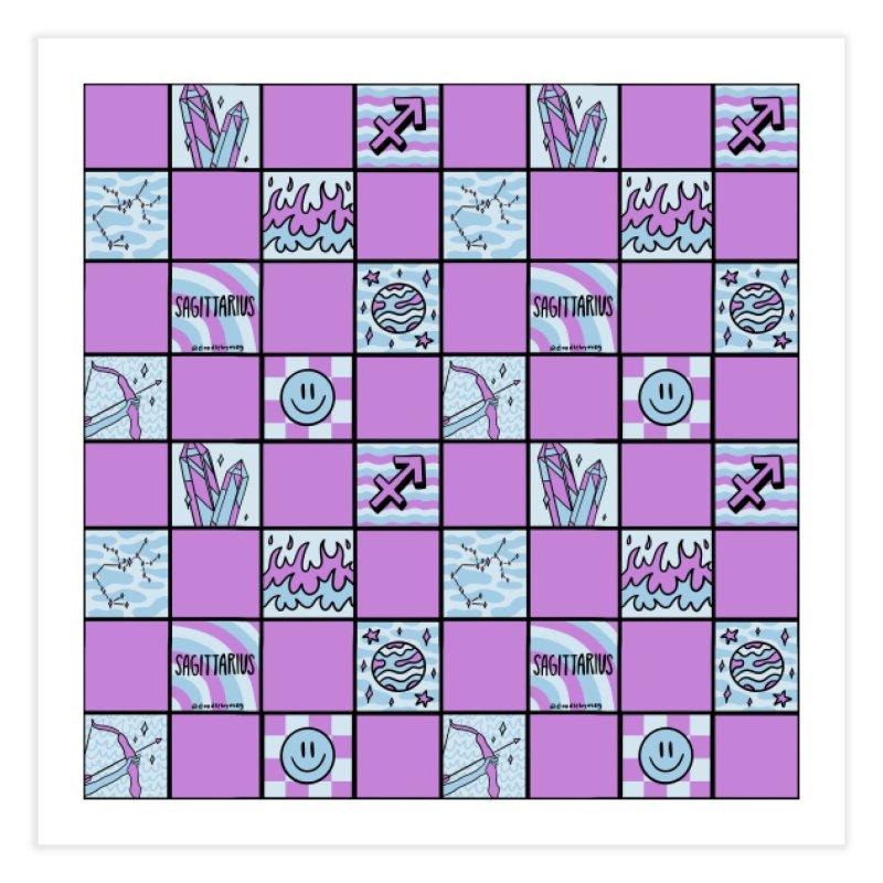 Sagittarius Checkered Print Home Fine Art Print by doodlebymeg's Artist Shop