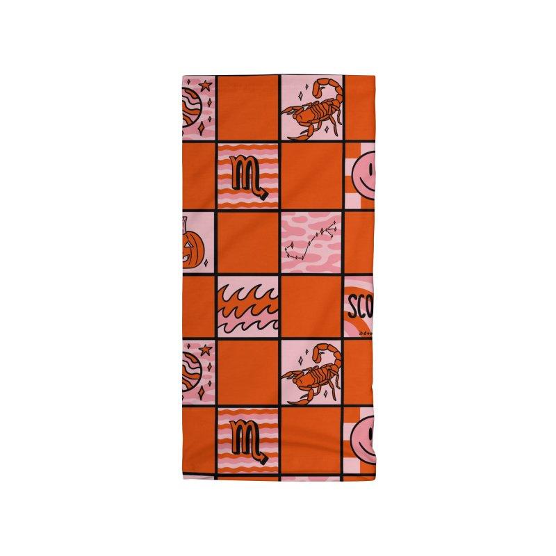 Scorpio Checkered Print Accessories Neck Gaiter by doodlebymeg's Artist Shop