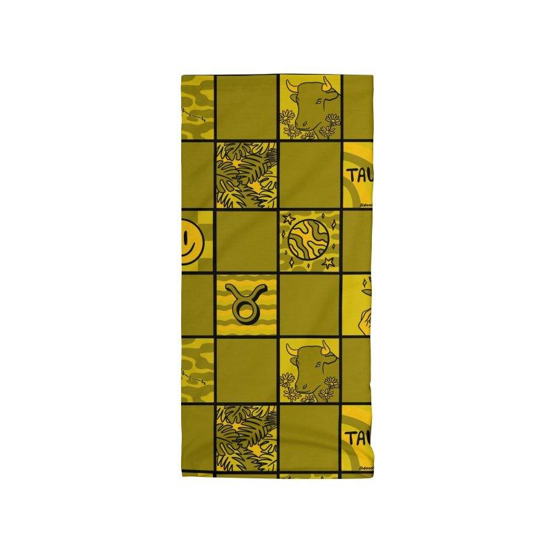Taurus Checkered Print Accessories Neck Gaiter by doodlebymeg's Artist Shop