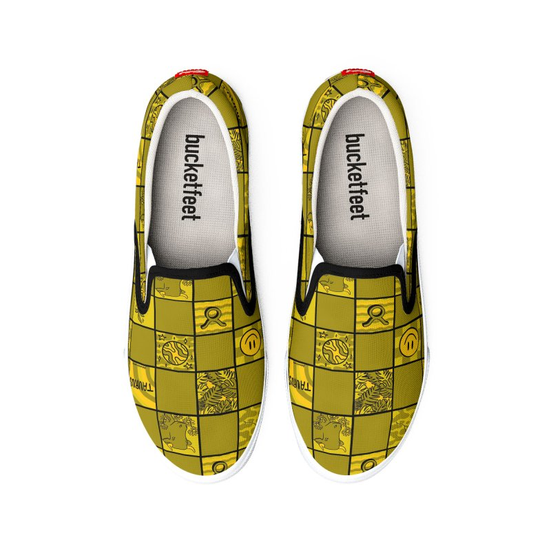 Taurus Checkered Print Men's Shoes by doodlebymeg's Artist Shop