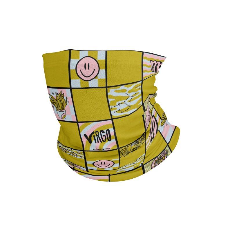 Virgo Checkered Print Accessories Neck Gaiter by doodlebymeg's Artist Shop
