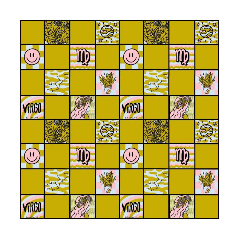 Virgo Checkered Print Men's Shoes by doodlebymeg's Artist Shop