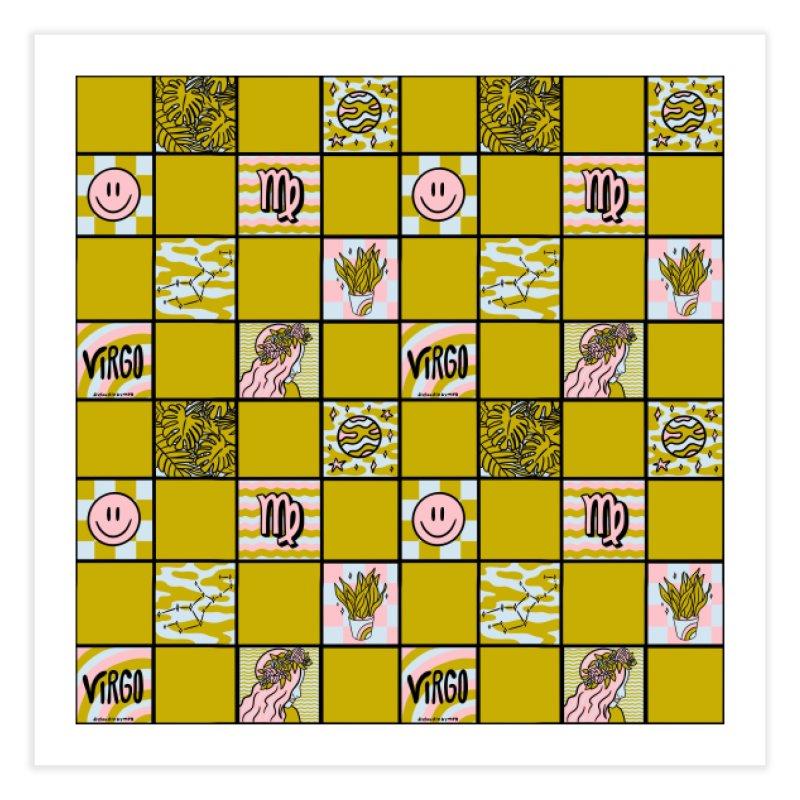 Virgo Checkered Print Home Fine Art Print by doodlebymeg's Artist Shop