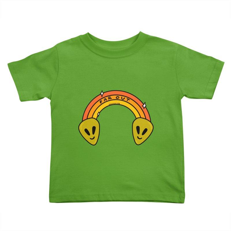 Far Out Kids Toddler T-Shirt by doodlebymeg's Artist Shop