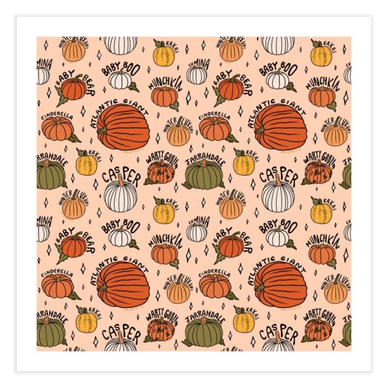 Types of Pumpkins Print Home Fine Art Print by doodlebymeg's Artist Shop