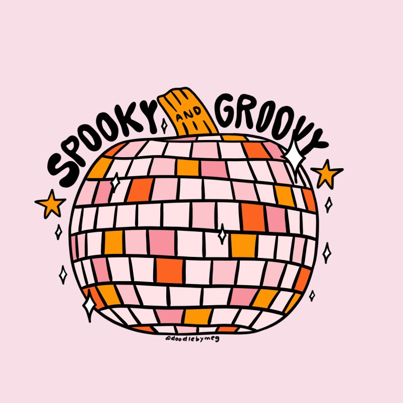 Spooky and Groovy Men's T-Shirt by doodlebymeg's Artist Shop