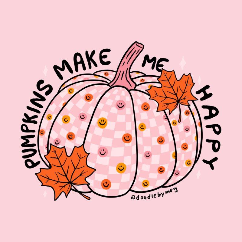 Pumpkins Make Me Happy Men's T-Shirt by doodlebymeg's Artist Shop
