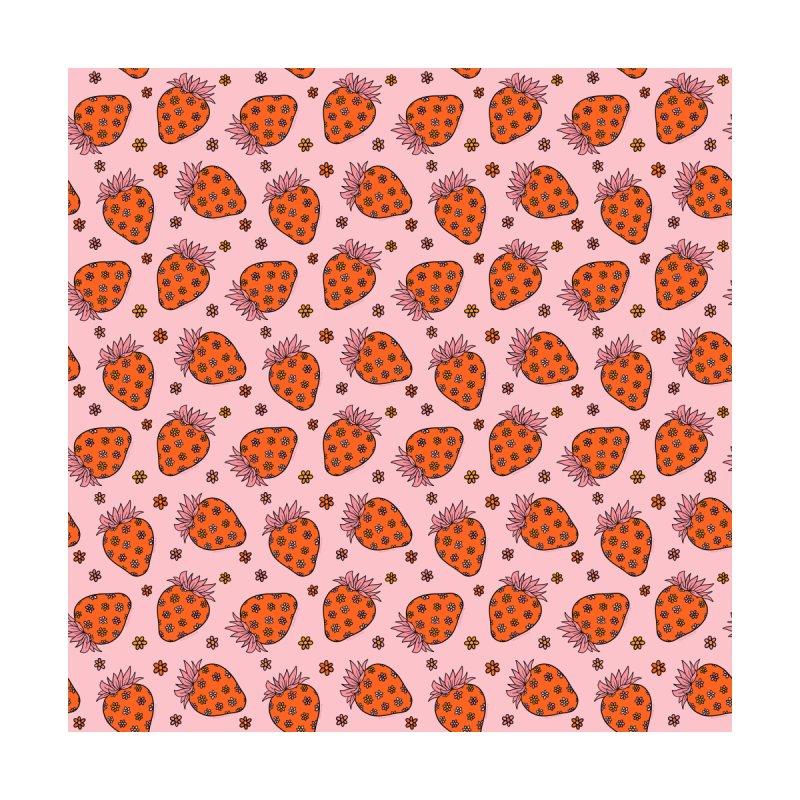 Flower Strawberry Print Home Fine Art Print by doodlebymeg's Artist Shop