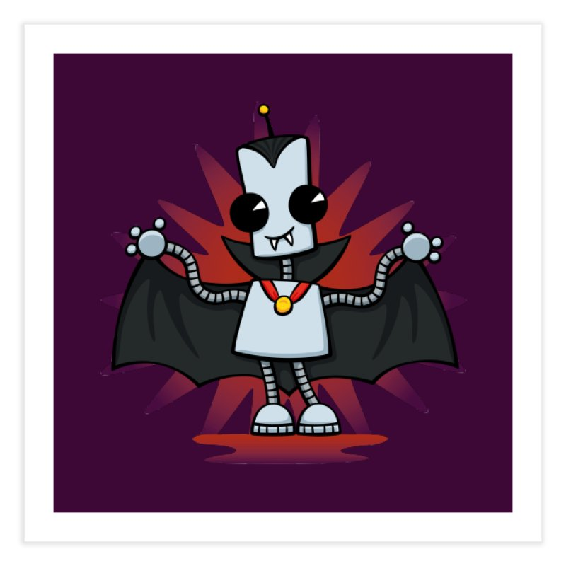 Ned the Vampire Home Fine Art Print by doodledojo's Artist Shop