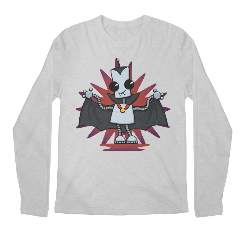 Ned the Vampire Men's Regular Longsleeve T-Shirt by doodledojo's Artist Shop