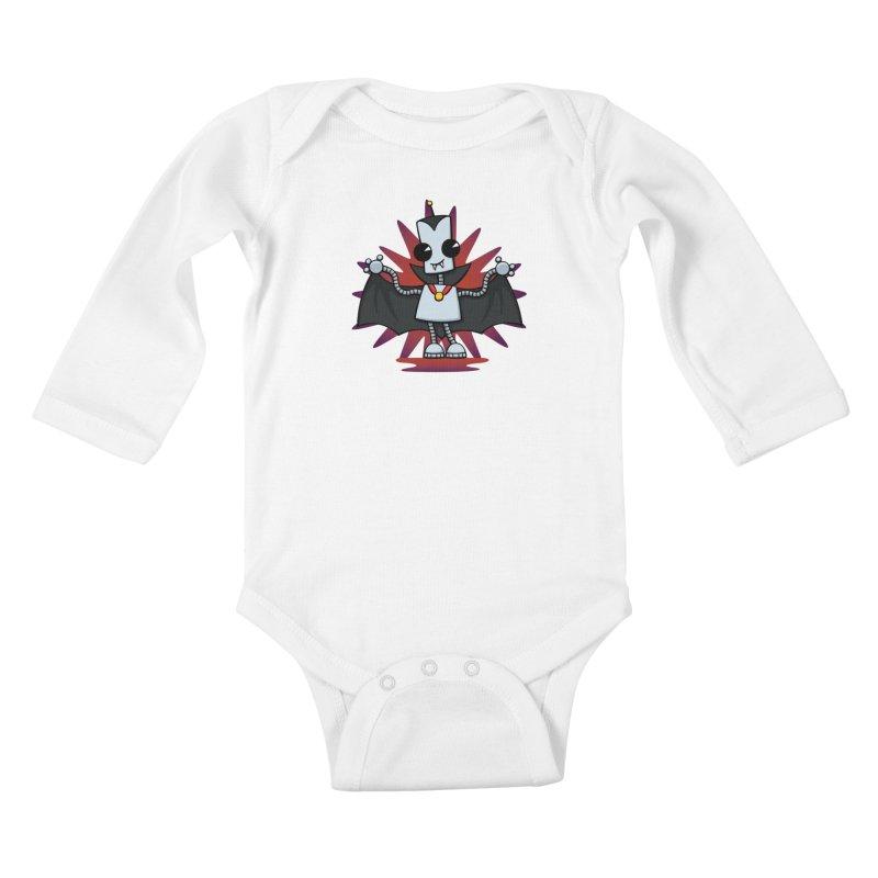 Ned the Vampire Kids Baby Longsleeve Bodysuit by doodledojo's Artist Shop