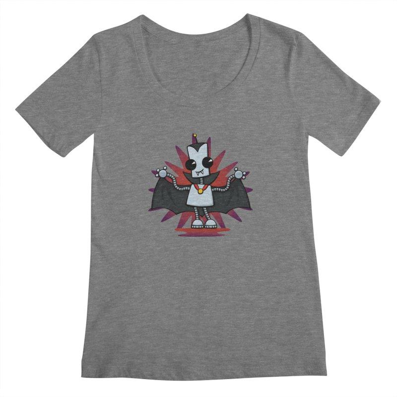Ned the Vampire Women's Scoopneck by doodledojo's Artist Shop