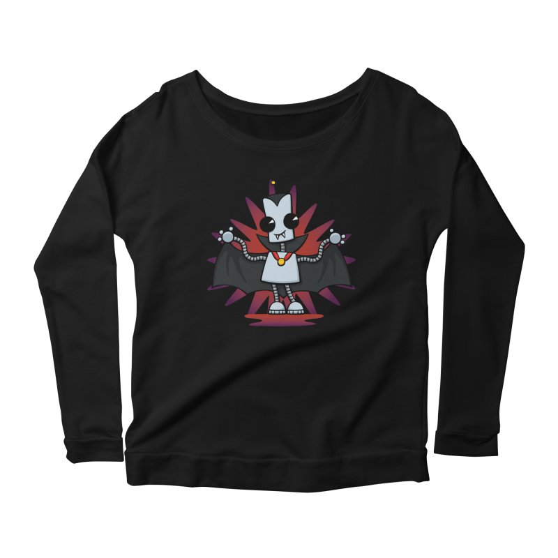 Ned the Vampire Women's Longsleeve Scoopneck  by doodledojo's Artist Shop