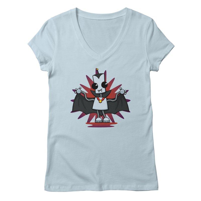 Ned the Vampire Women's V-Neck by doodledojo's Artist Shop