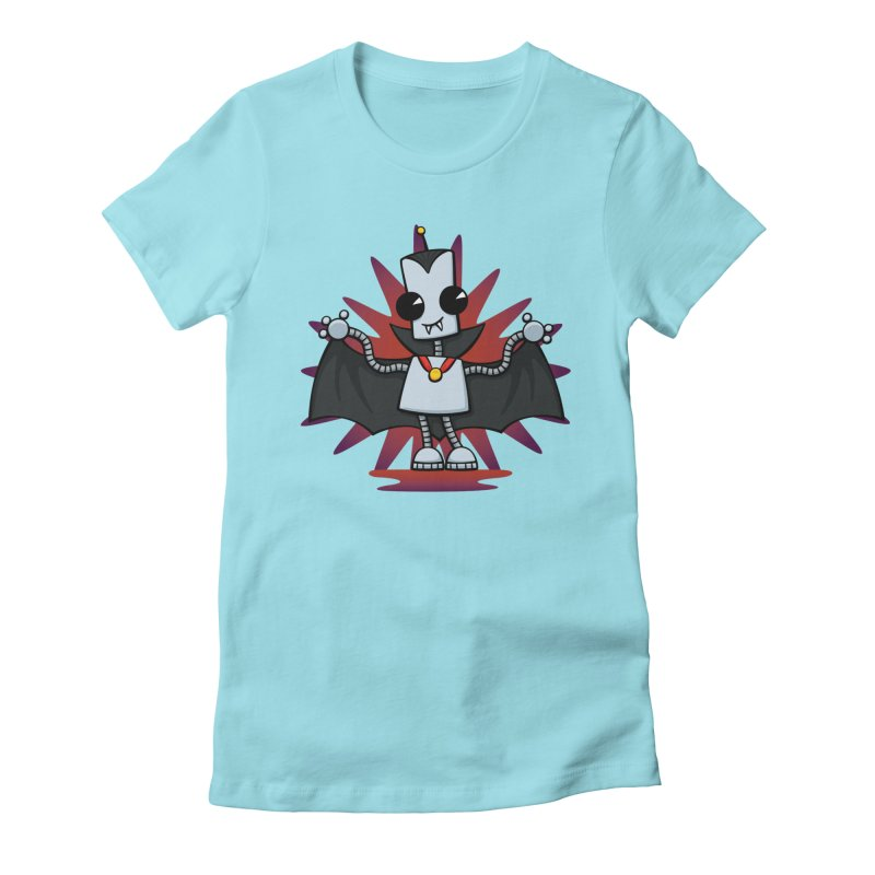 Ned the Vampire Women's Fitted T-Shirt by doodledojo's Artist Shop