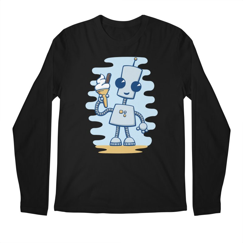 Ned's Ice Cream Men's Regular Longsleeve T-Shirt by doodledojo's Artist Shop