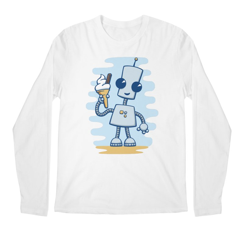 Ned's Ice Cream Men's Longsleeve T-Shirt by doodledojo's Artist Shop