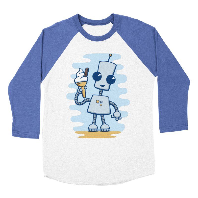 Ned's Ice Cream Women's Baseball Triblend T-Shirt by doodledojo's Artist Shop