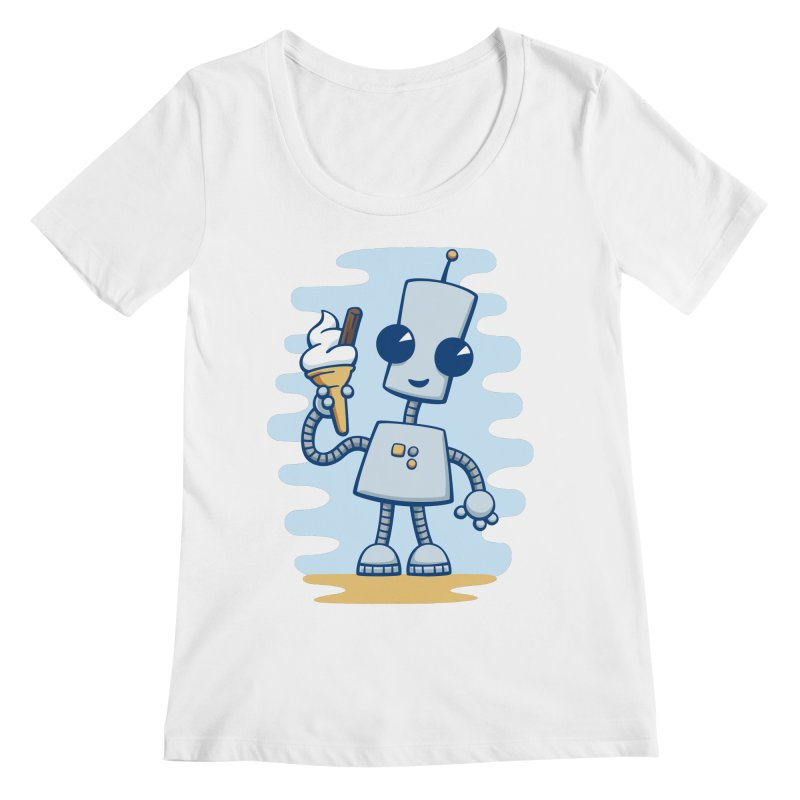 Ned's Ice Cream Women's Scoopneck by doodledojo's Artist Shop