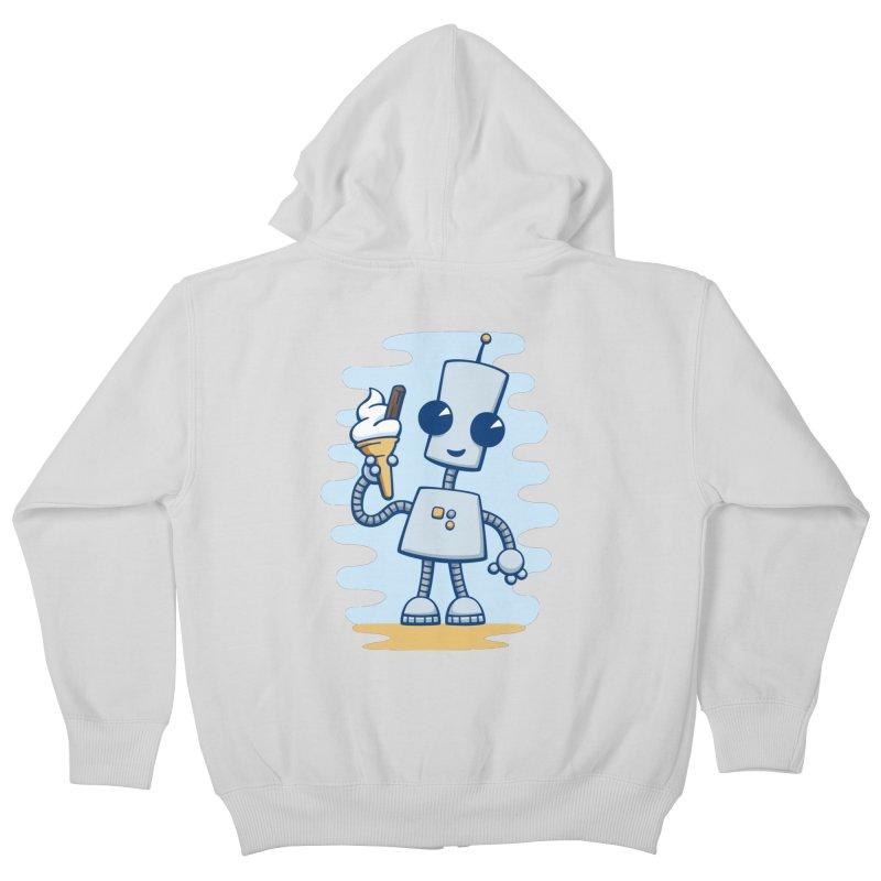 Ned's Ice Cream Kids Zip-Up Hoody by doodledojo's Artist Shop