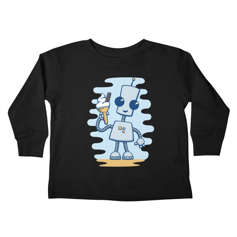 Ned's Ice Cream Kids Toddler Longsleeve T-Shirt by doodledojo's Artist Shop