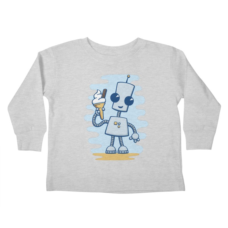 Ned's Ice Cream Kids Toddler Longsleeve T-Shirt by doodledojo's Artist Shop