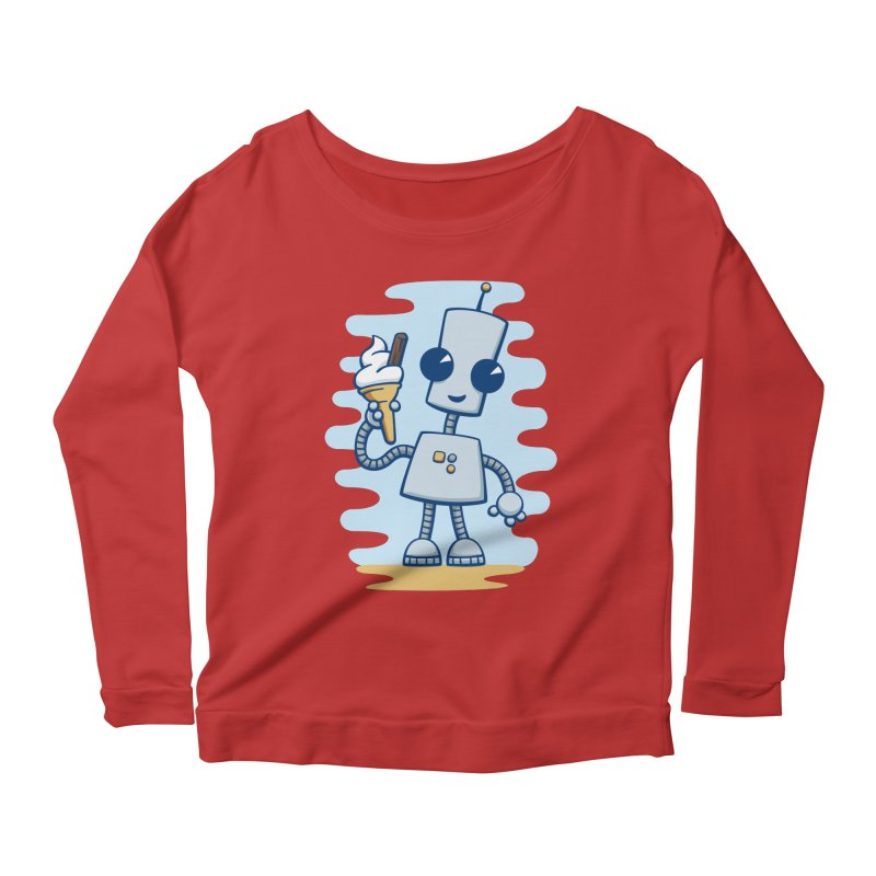 Ned's Ice Cream Women's Longsleeve Scoopneck  by doodledojo's Artist Shop