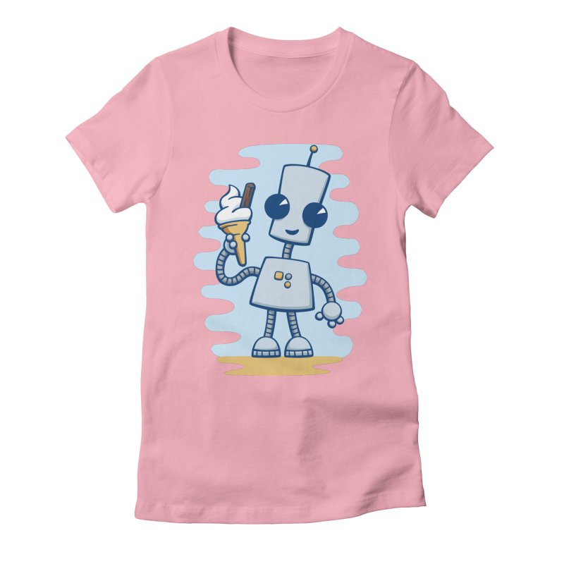 Ned's Ice Cream Women's Fitted T-Shirt by doodledojo's Artist Shop
