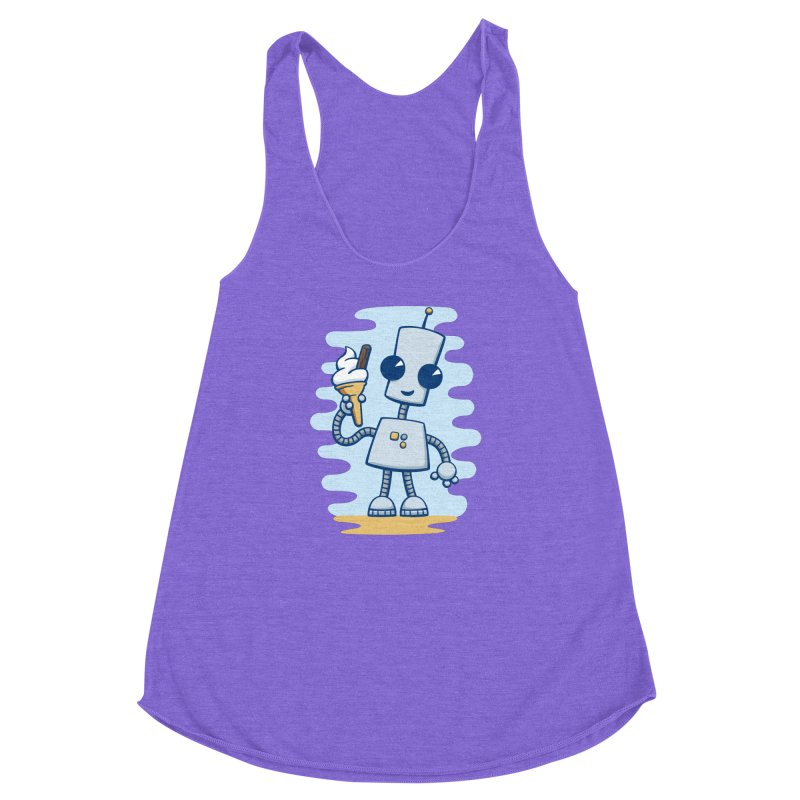 Ned's Ice Cream Women's Racerback Triblend Tank by doodledojo's Artist Shop