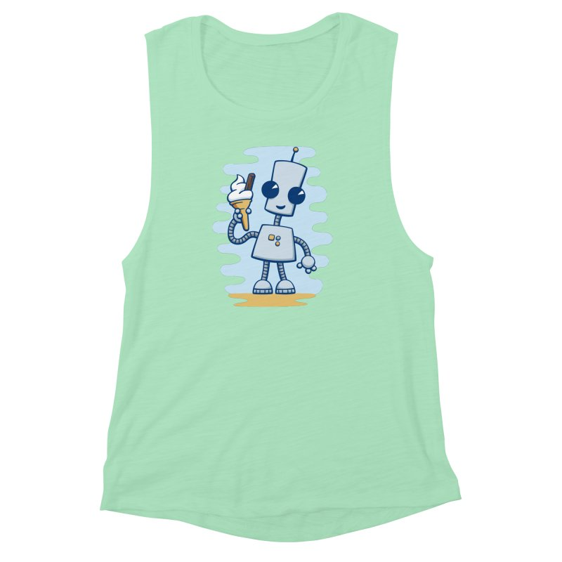 Ned's Ice Cream Women's Muscle Tank by doodledojo's Artist Shop